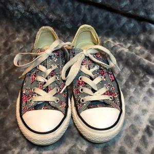 Converse floral print shoes